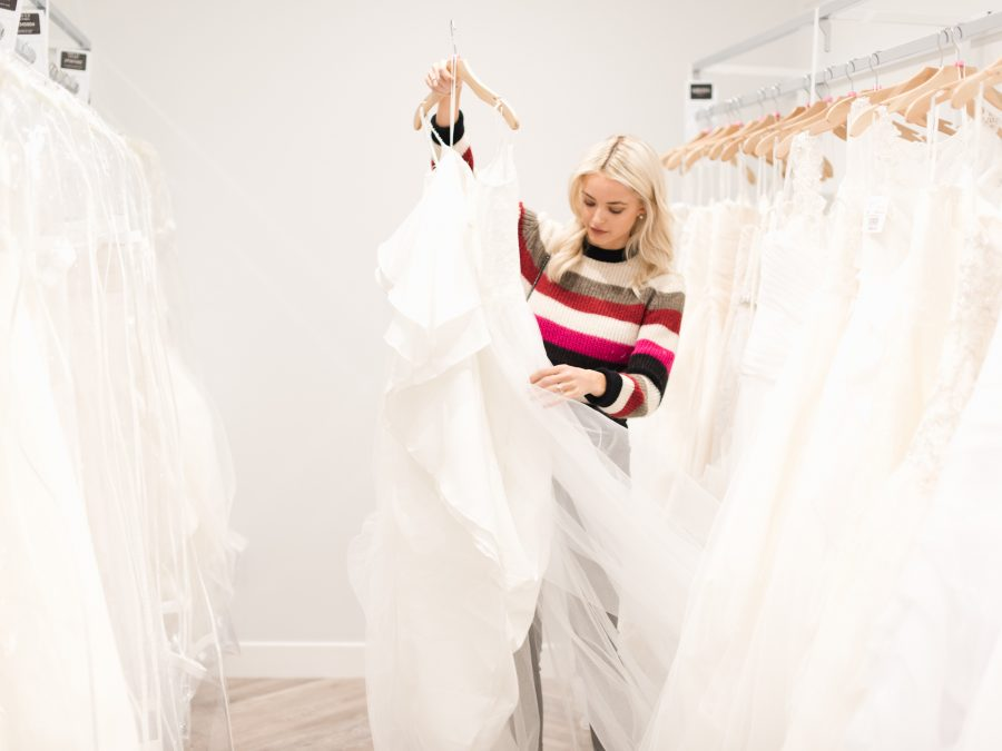 While In Boston A Couple Weeks Ago I Was Invited By Davids Bridal To Experience Their Meet The Stylist Program And Try On My Very First Wedding Dresses